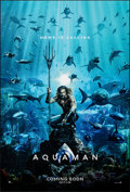 "Movie Posters:Action, Aquaman (Warner Bros., 2018). Rolled, Very Fine/Near Mint. International One Sheet (27"" X 40"") DS, Advance, 3D Style. Action..."