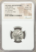 Ancients:Greek, Ancients: LUCANIA. Metapontum. Ca. 330-280 BC. AR stater (20mm, 7.62 gm, 10h). NGC AU 5/5 - 2/5....