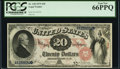 Large Size:Legal Tender Notes, Fr. 128 $20 1875 Legal Tender PCGS Gem New 66PPQ.. ...