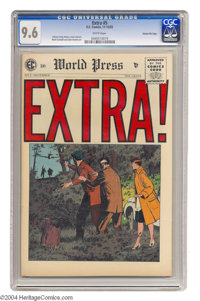 """Extra! #5 Gaines File pedigree (EC, 1955) CGC NM+ 9.6 White pages. This was the last issue of this """"New Direction&q..."""