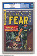 Golden Age (1938-1955):Horror, The Haunt of Fear #15 (#1) Gaines File pedigree (EC, 1950) CGC NM/MT 9.8 Off-white pages. This is the first issue of one of ...