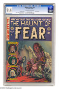 Golden Age (1938-1955):Horror, Haunt of Fear #14 (EC, 1952) CGC NM 9.4 Off-white to white pages.If you wondered how the Old Witch came to be, look no furt...