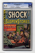 Golden Age (1938-1955):Horror, Shock SuspenStories #1 (EC, 1952) CGC VF 8.0 Off-white pages. Thispremiere issue reflects the title's original format, whic...
