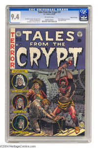Tales From the Crypt #31 Gaines File pedigree 9/12 (EC, 1952) CGC NM 9.4 Off-white pages. This issue features the first...