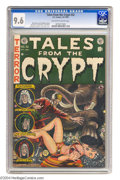 Golden Age (1938-1955):Science Fiction, Tales From the Crypt #32 (EC, 1952) CGC NM+ 9.6 Off-white to whitepages. Jack Davis drew this issue's horror cover (demonst...