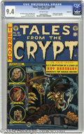 Golden Age (1938-1955):Horror, Tales From the Crypt #36 Bethlehem pedigree (EC, 1953) CGC NM 9.4Off-white pages. EC had famously been caught red-handed ap...