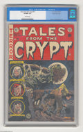 """Golden Age (1938-1955):Horror, Tales From the Crypt #37 Gaines File pedigree (EC, 1953) CGC VF/NM9.0 Off-white pages. This issue's lead story """"Dead Right!..."""