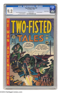 Two-Fisted Tales #25 Gaines File pedigree 3/10 (EC, 1952) CGC NM- 9.2 Off-white pages. This title's star artist, Harvey...