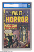 Golden Age (1938-1955):Horror, Vault of Horror #13 Gaines File pedigree 1/9 (EC, 1950) CGC NM/MT9.8 Off-white to white pages. This is the true second issu...