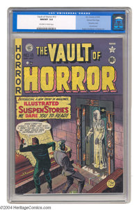 Vault of Horror #13 Gaines File pedigree 1/9 (EC, 1950) CGC NM/MT 9.8 Off-white to white pages. Here's one of the very e...
