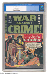 War Against Crime #11 Gaines File pedigree 1/11 (EC, 1950) CGC NM/MT 9.8 Off-white to white pages. This historic issue b...