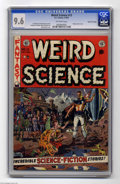 Golden Age (1938-1955):Science Fiction, Weird Science #13 Gaines File Pedigree (EC, 1952) CGC NM+ 9.6Off-white pages. A gorgeous Wally Wood cover highlights this e...