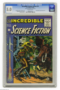 Incredible Science Fiction #31 Al Williamson File Copy (EC, 1955) CGC VG/FN 5.0 Off-white pages. This issue has Roy Kren...