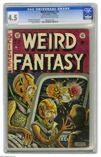 Weird Fantasy #16 Al Williamson File Copy (EC, 1952) CGC VG+ 4.5 Light tan to off-white pages. The best EC artists often...