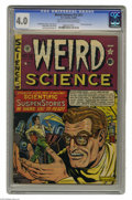 Golden Age (1938-1955):Science Fiction, Weird Science #12 (#1) Al Williamson File Copy (EC, 1950) CGC VG4.0 Light tan to off-white pages. The first issue of this g...