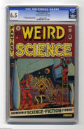 "Golden Age (1938-1955):Science Fiction, Weird Science #8 Al Williamson File Copy (EC, 1951) CGC FN+ 6.5Light tan to off-white pages. Remember John Hurt's ""stomach ..."