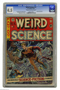 "Golden Age (1938-1955):Science Fiction, Weird Science #12 Al Williamson File Copy (EC, 1952) CGC VG+ 4.5Cream to off-white pages. Wally Wood was EC's ""artist of th..."