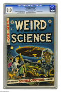 """Golden Age (1938-1955):Science Fiction, Weird Science #16 Al Williamson File Copy (EC, 1952) CGC VF 8.0Cream to off-white pages. """"Good girl"""" fans simply won't know..."""