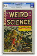 Golden Age (1938-1955):Science Fiction, Weird Science #17 Al Williamson File Copy (EC, 1953) CGC VG/FN 5.0Slightly brittle pages. The monster story in this issue w...