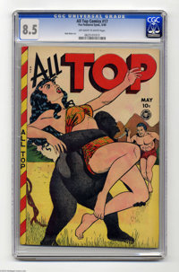 All Top Comics #17 (Fox Features Syndicate, 1949) CGC VF+ 8.5 Off-white to white pages. Gorilla covers were famous for s...