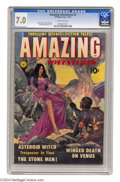 Golden Age (1938-1955):Science Fiction, Amazing Adventures #1 (Ziff-Davis, 1950) CGC FN/VF 7.0 Off-whitepages. Ziff-Davis certainly assembled a stellar lineup of a...