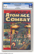 Golden Age (1938-1955):War, Atom-Age Combat V1#1 Bethlehem pedigree (St. John, 1952) CGC VF/NM 9.0 Off-white pages. The fears of the Cold War era were o...