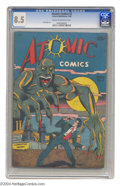 Golden Age (1938-1955):Horror, Atomic Comics #2 (Green Publishing Co., 1946) CGC VF+ 8.5 Cream tooff-white pages. Though a number of atomic-themed comics ...