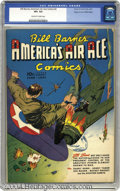 Golden Age (1938-1955):War, Bill Barnes Comics #3 Mile High pedigree (Street & Smith, 1941) CGC VF+ 8.5 Off-white to white pages. Pulp fiction hero Bill...