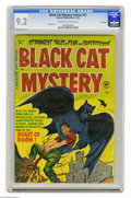 "Golden Age (1938-1955):Horror, Black Cat Mystery #41 File Copy (Harvey, 1952) CGC NM- 9.2 Cream tooff-white pages. This installment of the ""fear and super..."