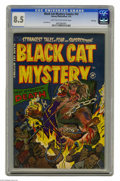 Golden Age (1938-1955):Horror, Black Cat Mystery #42 File Copy (Harvey, 1953) CGC VF+ 8.5 Lighttan to off-white pages. Joe Certa art. This is the highest ...