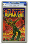 """Golden Age (1938-1955):Horror, Black Cat Mystery #44 File Copy (Harvey, 1953) CGC VF+ 8.5 Cream tooff-white pages. Overstreet notes, """"eyes, ears, tongue c..."""