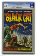 Golden Age (1938-1955):Horror, Black Cat Mystery #48 File Copy (Harvey, 1954) CGC VF- 7.5 Cream tooff-white pages. Lee Elias cover. Bob Powell, Howard Nos...