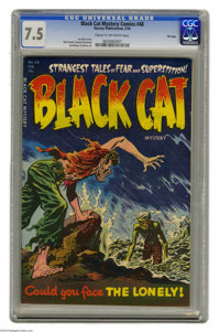 Black Cat Mystery #48 File Copy (Harvey, 1954) CGC VF- 7.5 Cream to off-white pages. Lee Elias cover. Bob Powell, Howard...