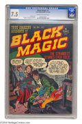 Golden Age (1938-1955):Horror, Black Magic #1 (Prize, 1950) CGC VF- 7.5 Cream to off-white pages.Jack Kirby mastered every comic genre he tried his hand a...
