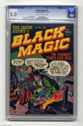 Golden Age (1938-1955):Horror, Black Magic #1 (Prize, 1950) CGC VG/FN 5.0 Off-white to whitepages. The title is indelibly associated with Jack Kirby, and ...