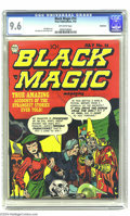 Golden Age (1938-1955):Horror, Black Magic V2#8 Bethlehem pedigree (Prize, 1952) CGC NM+ 9.6Off-white pages. This ol' Black Magic has us in its spell!...