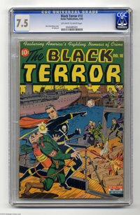 The Black Terror #10 (Nedor Publications, 1945) CGC VF- 7.5 Off-white to white pages. This is the first time we've offer...