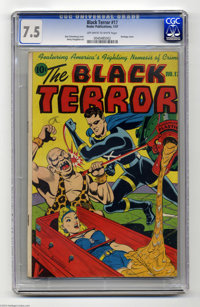 The Black Terror #17 (Nedor Publications, 1947) CGC VF- 7.5 Off-white to white pages. Bondage cover by Alex Schomburg. O...