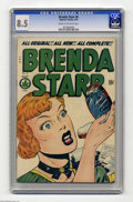 Golden Age (1938-1955):Miscellaneous, Brenda Starr #8 (Four Star, 1949) CGC VF+ 8.5 Cream to off-white pages. The last few issues of this title (including this on...