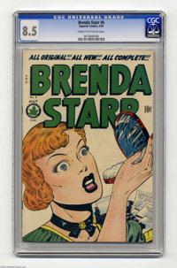 Brenda Starr #8 (Four Star, 1949) CGC VF+ 8.5 Cream to off-white pages. The last few issues of this title (including thi...