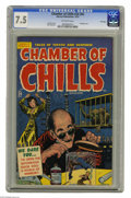 Golden Age (1938-1955):Horror, Chamber of Chills #24 (#4) File Copy (Harvey, 1951) CGC VF- 7.5Off-white pages. Bondage cover by Lee Elias. Bob Powell art....