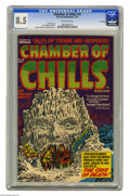 Golden Age (1938-1955):Horror, Chamber of Chills #10 File Copy (Harvey, 1952) CGC VF+ 8.5Off-white pages. Lee Elias cover. Al Avison, Manny Stallman, and...