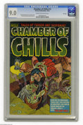 Golden Age (1938-1955):Horror, Chamber of Chills #13 File Copy (Harvey, 1952) CGC VF/NM 9.0 Creamto off-white pages. Al Avison cover. Howard Nostrand and ...