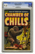 Golden Age (1938-1955):Horror, Chamber of Chills #14 File Copy (Harvey, 1952) CGC VF/NM 9.0 Creamto off-white pages. Lee Elias cover. This is the highest-...