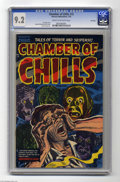 "Golden Age (1938-1955):Horror, Chamber of Chills #15 File Copy (Harvey, 1953) CGC NM- 9.2 Cream tooff-white pages. ""Ever dream a madness that crumbles you..."