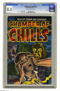 Golden Age (1938-1955):Horror, Chamber of Chills #15 File Copy (Harvey, 1953) CGC VF+ 8.5 Cream tooff-white pages. Lee Elias cover. Howard Nostrand, Bob P...