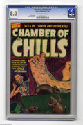 Golden Age (1938-1955):Horror, Chamber of Chills #16 File Copy (Harvey, 1953) CGC VF 8.0 Cream tooff-white pages. Lee Elias cover. Howard Nostrand art. On...