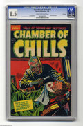 Golden Age (1938-1955):Horror, Chamber of Chills #18 File Copy (Harvey, 1953) CGC VF+ 8.5 Cream tooff-white pages. Lee Elias cover. Howard Nostrand and Bo...