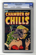 Golden Age (1938-1955):Horror, Chamber of Chills #19 File Copy (Harvey, 1953) CGC VF 8.0 Cream tooff-white pages. Lee Elias cover. Bob Powell, Howard Nost...