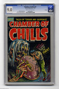 Golden Age (1938-1955):Horror, Chamber of Chills #20 File Copy (Harvey, 1953) CGC VF/NM 9.0 Creamto off-white pages. Howard Nostrand cover. Nostrand, Bob ...